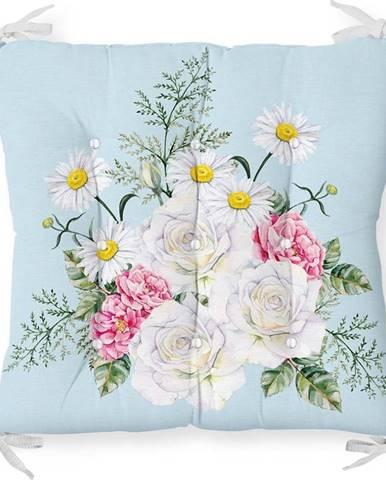 Podsedák s příměsí bavlny Minimalist Cushion Covers Spring Flowers,40x40cm
