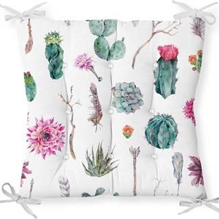 Podsedák s příměsí bavlny Minimalist Cushion Covers Succulent,40x40cm