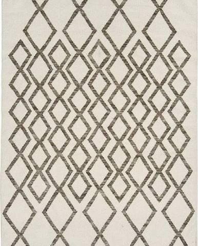 Béžovo-šedý koberec Asiatic Carpets Hackney Diamond, 160 x 230 cm