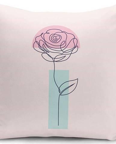 Povlak na polštář Minimalist Cushion Covers Drawing Flower, 45 x 45 cm