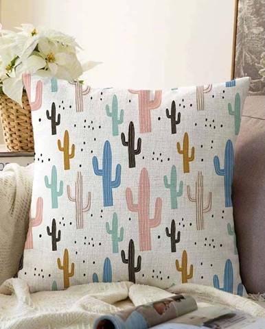 Povlak na polštář s příměsí bavlny Minimalist Cushion Covers Cacti,55x55cm