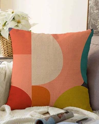 Povlak na polštář s příměsí bavlny Minimalist Cushion Covers Circles,55x55cm