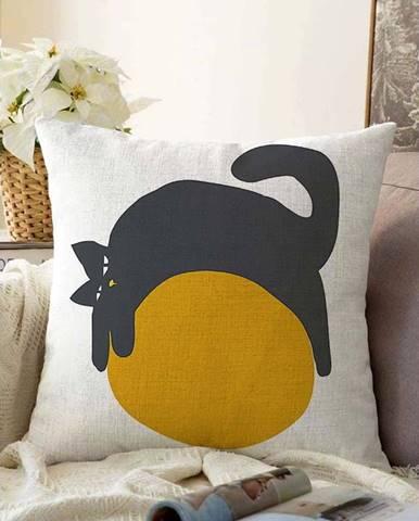 Povlak na polštář s příměsí bavlny Minimalist Cushion Covers Kitty,55x55cm