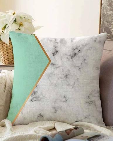 Povlak na polštář s příměsí bavlny Minimalist Cushion Covers Marble,55x55cm