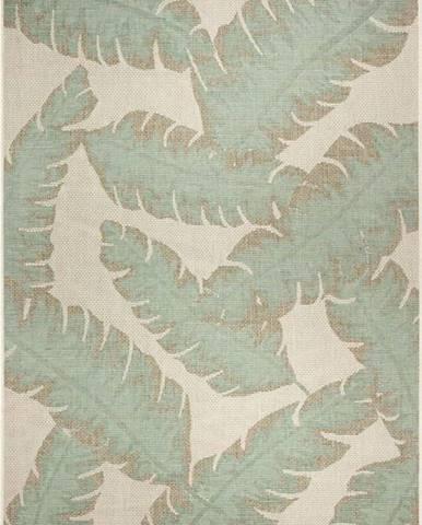 Zeleno-béžový venkovní koberec Ragami Leaf, 180 x 280 cm