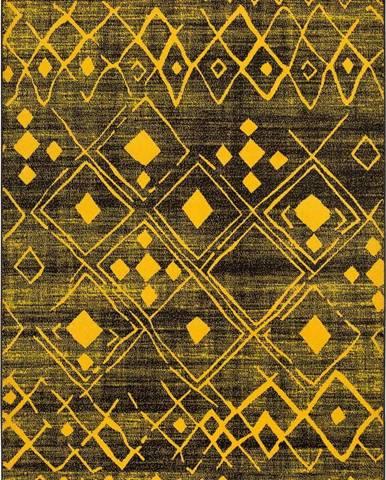 Žlutý koberec Universal Neon Shine, 80 x 150 cm