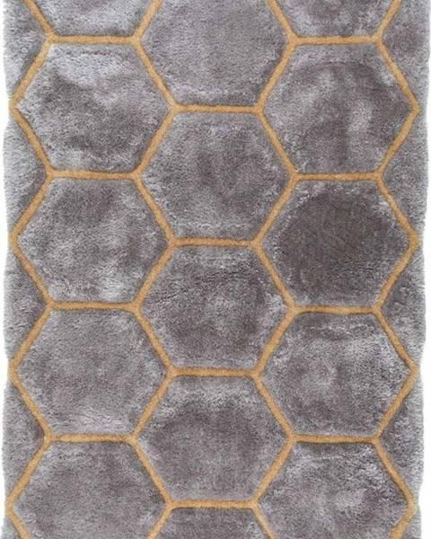 Flair Rugs Šedý koberec Flair Rugs Honeycomb, 120 x 170 cm