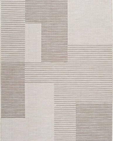 Béžový venkovní koberec Universal Cork Squares, 155 x 230 cm