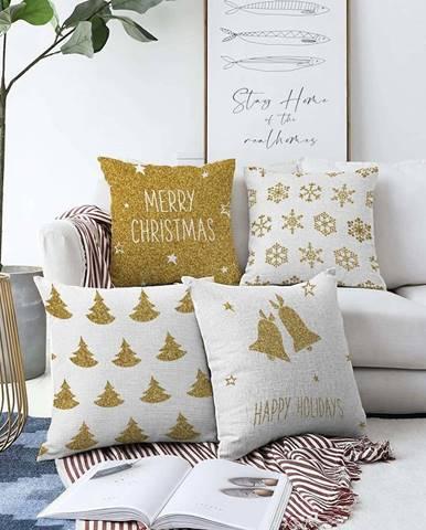 Sada 4 povlaků na polštáře Minimalist Cushion Covers Christmas Vibes,55 x 55 cm