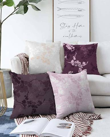 Sada 4 povlaků na polštáře Minimalist Cushion Covers Donna,55 x 55 cm