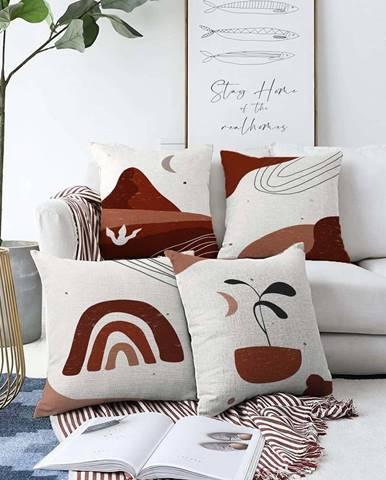 Sada 4 povlaků na polštáře Minimalist Cushion Covers Egypt,55 x 55 cm