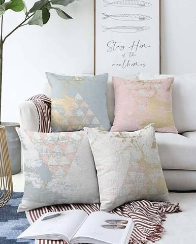 Sada 4 povlaků na polštáře Minimalist Cushion Covers Spring Vibes,55 x 55 cm