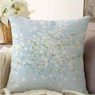Modrý povlak na polštář s příměsí bavlny Minimalist Cushion Covers Blossom,55x55cm