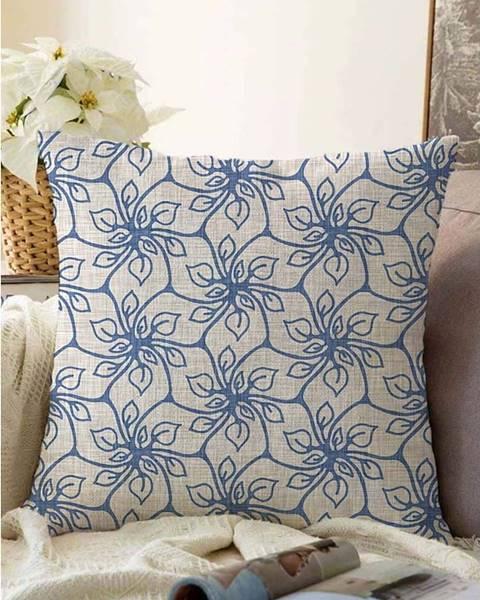 Minimalist Cushion Covers Modrý povlak na polštář s příměsí bavlny Minimalist Cushion Covers Chic,55x55cm