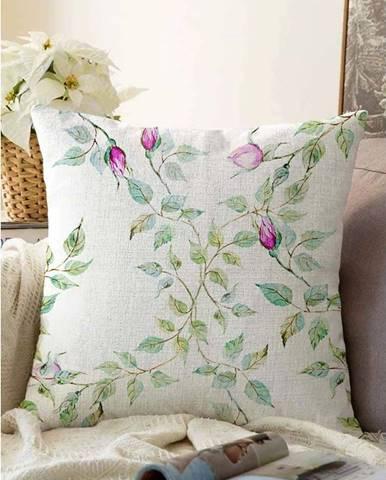 Béžový povlak na polštář s příměsí bavlny Minimalist Cushion Covers Roses,55x55cm