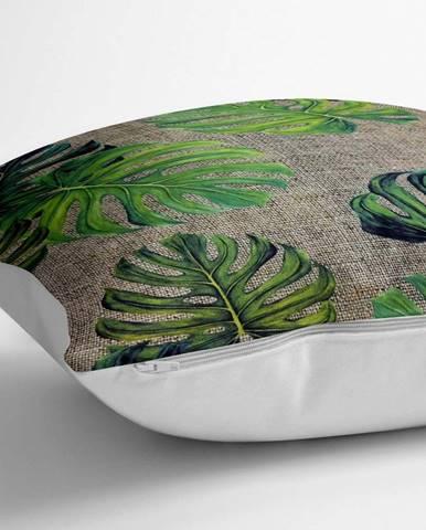 Povlak na polštář s příměsí bavlny Minimalist Cushion Covers Banana Leaves,70x70cm