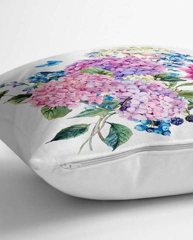 Povlak na polštář s příměsí bavlny Minimalist Cushion Covers Bouquet,70x70cm