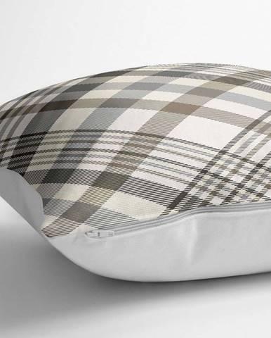 Povlak na polštář s příměsí bavlny Minimalist Cushion Covers Checkered,70x70cm