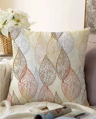 Povlak na polštář s příměsí bavlny Minimalist Cushion Covers Oriental Leaf,55x55cm