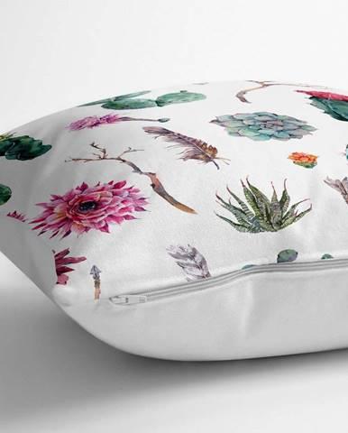 Povlak na polštář s příměsí bavlny Minimalist Cushion Covers Succulent,70x70cm