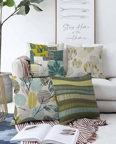 Sada 4 povlaků na polštáře Minimalist Cushion Covers Amoro,55 x 55 cm