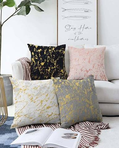 Sada 4 povlaků na polštáře Minimalist Cushion Covers Artistry,55 x 55 cm