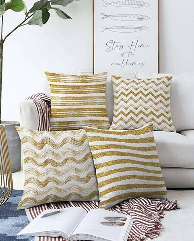 Sada 4 povlaků na polštáře Minimalist Cushion Covers Geometric,55 x 55 cm