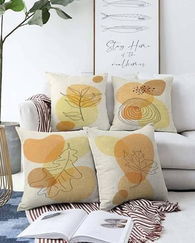 Sada 4 povlaků na polštáře Minimalist Cushion Covers Sunset Colours,55 x 55 cm