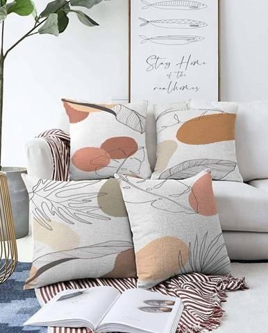 Sada 4 povlaků na polštáře Minimalist Cushion Covers Uma,55 x 55 cm