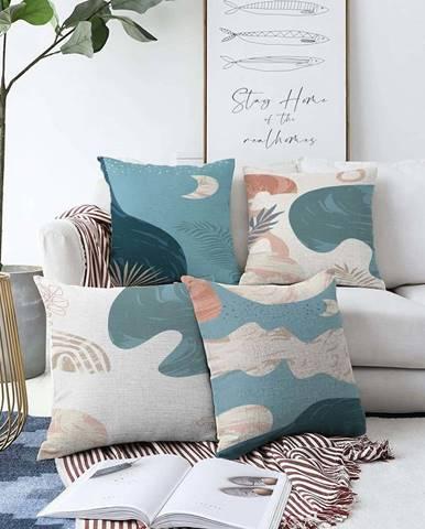 Sada 4 povlaků na polštáře Minimalist Cushion Covers Under Water,55 x 55 cm