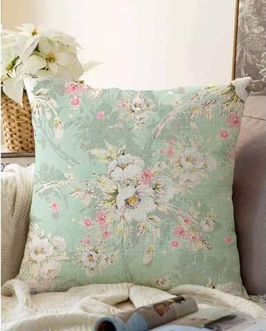 Zelený povlak na polštář s příměsí bavlny Minimalist Cushion Covers Blossom,55x55cm