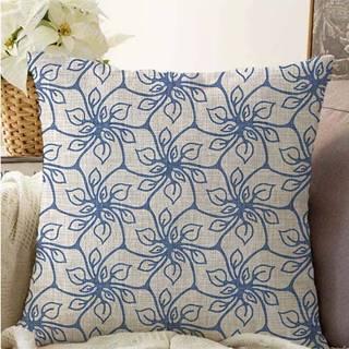 Modrý povlak na polštář s příměsí bavlny Minimalist Cushion Covers Chic,55x55cm