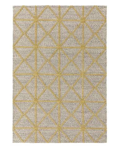 Béžovo-žlutý koberec Asiatic Carpets Prism, 160 x 230 cm