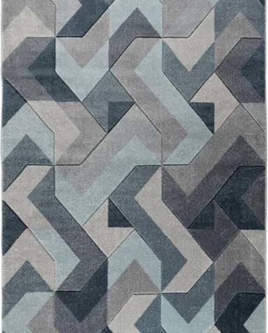 Modro-šedý koberec Flair Rugs Aurora, 160 x 230 cm