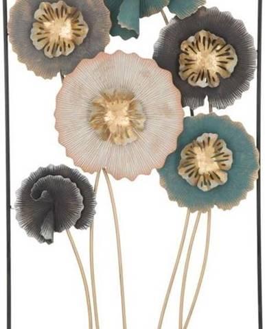 Železná nástěnná dekorace s květinovými motivy Mauro Ferretti Obly, výška 88,5 cm