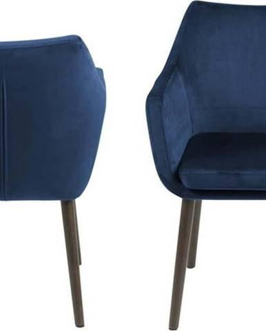 Modrá jídelní židle Actona Nora