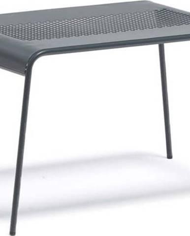 Šedý kovový zahradní konferenční stolek Ezeis Ambroise