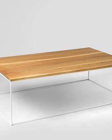 Konferenční stolek s bílou konstrukcí Custom Form Tensio, 100 x 60 cm