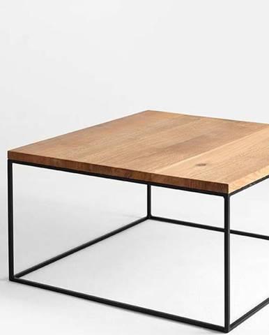 Konferenční stolek s černou konstrukcí Custom Form Tensio, 80 x 80 cm