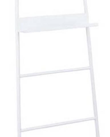 Bílý dekorativní žebřík se zrcadlem Leitmotiv Glint