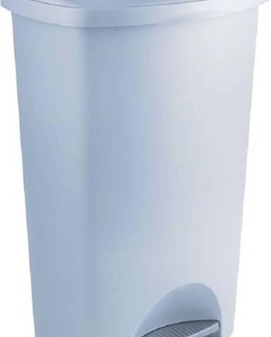 Šedý pedálový odpadkový koš z recyklovaného plastu Addis Eco Range, 50 l