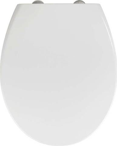 Bílé WC sedátko z duroplastu se snadným zavíráním Wenko Delos