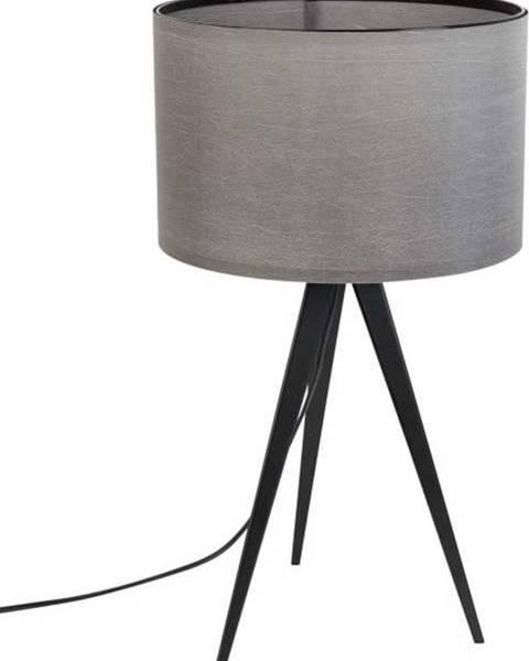 Zuiver Černo-šedá stolní lampa Zuiver Tripod, ø 28 cm