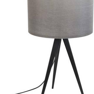 Černo-šedá stolní lampa Zuiver Tripod, ø 28 cm