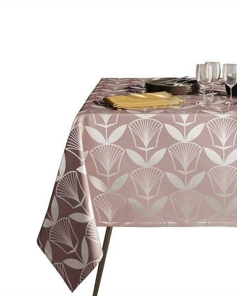 AmeliaHome Pudrově růžový ubrus AmeliaHome Floris,140x220cm