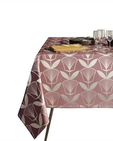 Růžový ubrus AmeliaHome Floris,140x220cm