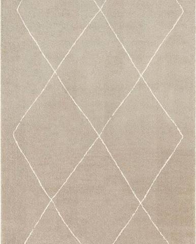 Béžovo-krémový koberec Elle Decoration Glow Massy, 200 x 290 cm