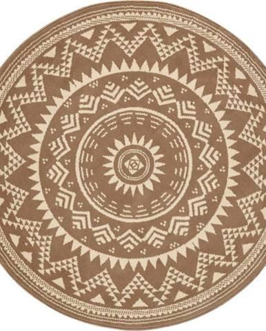 Hnědý koberec Hanse Home Celebration, ⌀ 140 cm