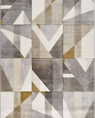 Šedo-žlutý koberec Bianca Dice, 140 x 200 cm