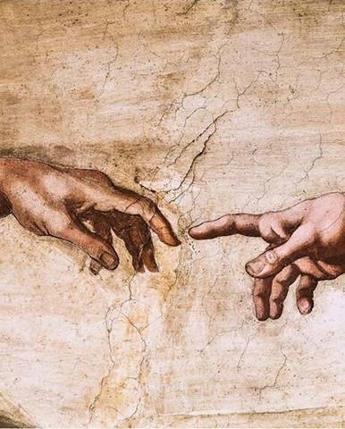 Reprodukce obrazu Michelangelo Buonarroti - Creation of Adam,70x45cm